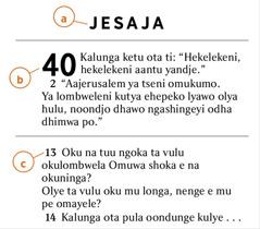 Oshitopolwa shoka sha adhika mOmbiimbeli sha ndhindhilikwa tashi ulike nkene to vulu okumona a) embo lyOmbiimbeli, b) ontopolwa, c) novelise