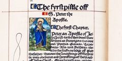 Une page de la traduction anglaise de la Bible de William Tyndale