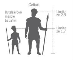 Siswaniso sesibonisa butelele bwa Goliati haabapanywa ni butelele bwa masole babañwi
