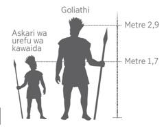 Urefu wa Goliathi wenye kulinganishwa na urefu wa askari wa kawaida