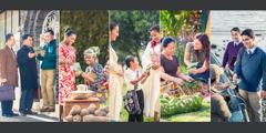 شهود ليهوه يكرزون لأناس في بلدان مختلفة