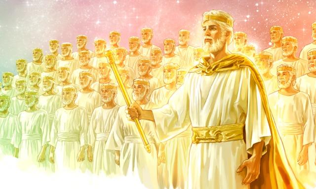 Jesus com alguns que foram ressuscitados para a vida celestial