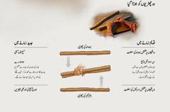 دو چھڑیوں کو جوڑ کر ایک بنایا گیا—قدیم زمانے میں اور جدید زمانے میں