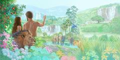 Adam en Eva in de Hof van Eden