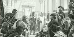 Apostle Paul dey preach about Jesus for front of Rome governor