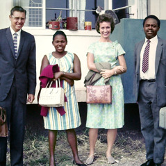 Thomas and Bethel McLain with Mary and Chris Kanaiya in Nairobi, Kenya