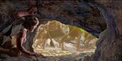 Ο Ενώχ κρύβεται σε μια σπηλιά ενώ περνούν απέξω οι διώκτες του