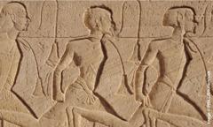 Рељефни приказ египатских заробљеника