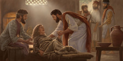 Jesus heals Peter's mother-in-law