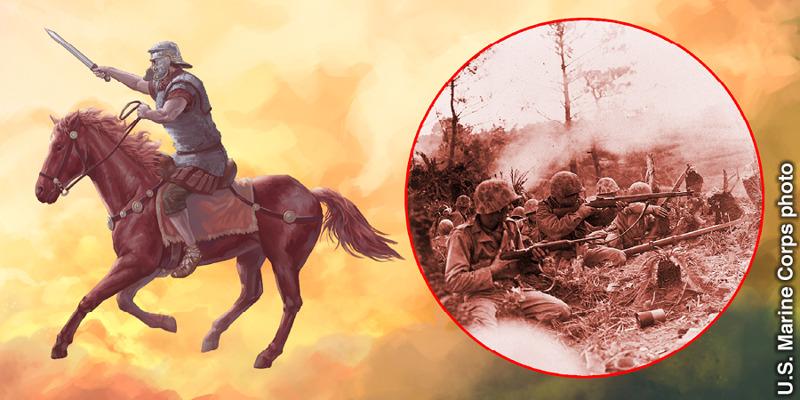 O cavaleiro no cavalo cor de fogo representa as guerras
