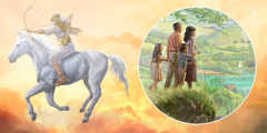 Исус на белом коњу побеђује и успоставља рај
