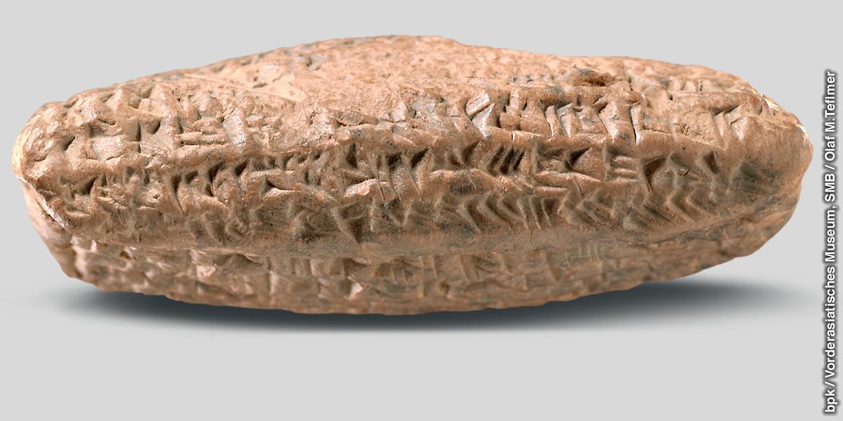 Tabuinha cuneiforme que contém o nome Tatanu