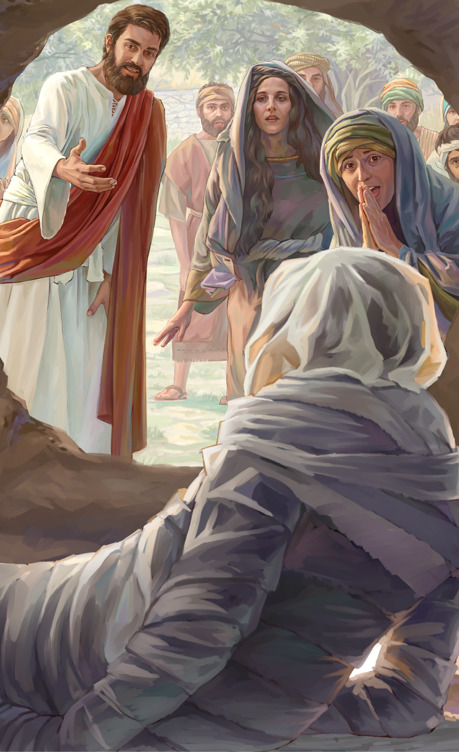 Jesús resucita a Lázaro