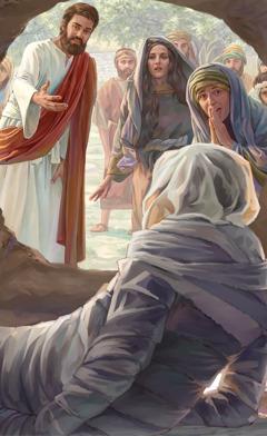 Yesus e gi Lasarus wan opobaka