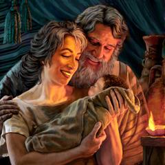 ابراهيم وسارة وطفلهما اسحاق