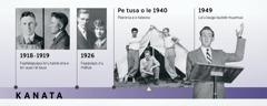 Tamā o Douglas Guest i le 1918-1919 ma ona mātua i le 1926; o loo paeonia Douglas Guest ma fai lana uluaʻi lauga i le lautele