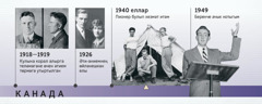 Дуглас Гестның әтисе 1918—1919еллар һәм 1926елда аның әти-әнисе; Дуглас Гест пионер булып хезмәт итә һәм беренче ачык нотыгын сөйли