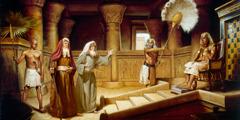 Musa ve Harun Firavunun karşısına çıkıyor