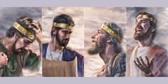 آسا، يهوشافاط، حزقيا، ويوشيا