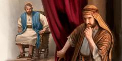النبي ناثان يفكر قبل ان ينقل رسالة يهوه الى الملك داود