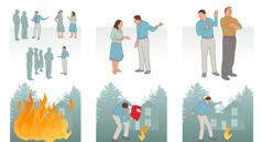 אדם גורם לבעיה לצאת מכלל שליטה כאשר הוא מרכל על כך עם אחרים