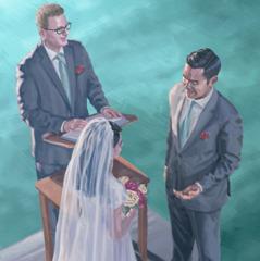 Man na meri i mekim tok promis bilong marit