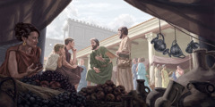 Christenen in de eerste eeuw die het goede nieuws prediken