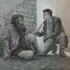 דון מבשר לפיטר בסמטה אחורית