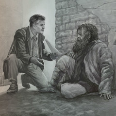 Don witnesses to Peter in a back alley