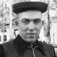 Si Pavel Sivulsky sa kampo sa pinugos nga pagtrabaho, 1962