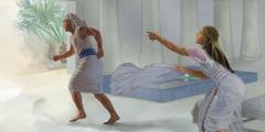 Josef flykter fra Potifars kone