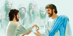 Jesús sýnir manni með visna hönd meðaumkun.