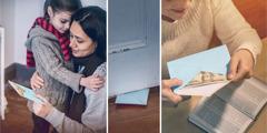 אחות מכניסה כסף למעטפה ומעבירה אותה לאחות השרויה בצורך