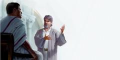 يوسف الذي من الرامة يتحدث الى بنطيوس بيلاطس
