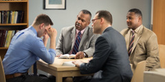 A contrite brother meets with elders