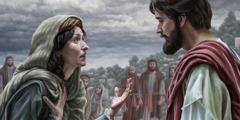 马大对耶稣说话