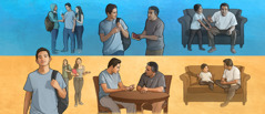 اب يهمل تربية ولده، فيضعف ايمان ابنه؛ اب يجتهد في تربية ابنه، فيصمد ابنه امام ضغط رفاقه