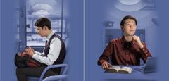 مردی جوان هنگام مطالعهٔ شخصی کتاب مقدّس تعمّق میکند و هنگامی که در اتوبوس نشسته است، دعا میکند