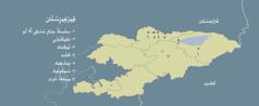 خريطة قيرغيزستان