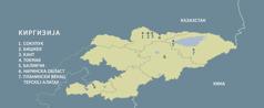 Географска карта Киргизије