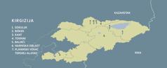 Geografska karta Kirgizije