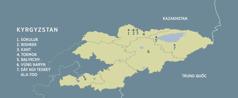 Bản đồ nước Kyrgyzstan