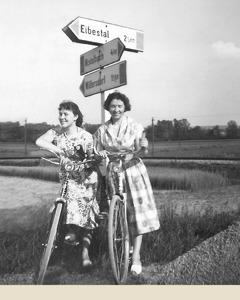 Erika Nöhrer Bright sa svojom suradnicom dok su služile kao specijalne pionirke u Mistelbachu, u Austriji