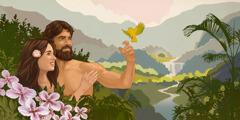 Adami dhe Eva në kopshtin e Edenit