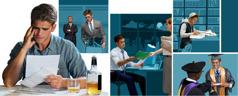 شاب يدرس باجتهاد، يتخرج من الجامعة، يجد وظيفة، يطرده مديره، ويسرف في الشرب