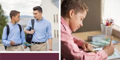 مراهق يستعين بورقة عمل كي يستعد ليبشر رفيقه في المدرسة