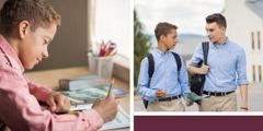En tonårskille använder ett arbetsblad för att förbereda sig för att vittna i skolan