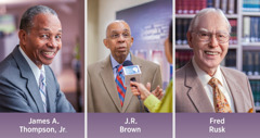 James A. Thompson, Jr.; J.R. Brown; Fred Rusk