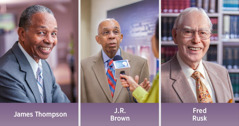 James Thompson, J.R. Brown, Fred Rusk