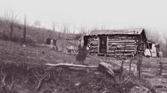 Die Blockhütte, in der Samuel Herd zur Welt kam